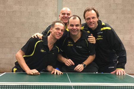 Het 1e team in de trio-competitie